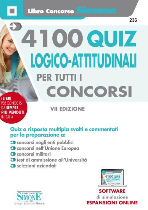 4100 Quiz Logico-attitudinali per tutti i concorsi