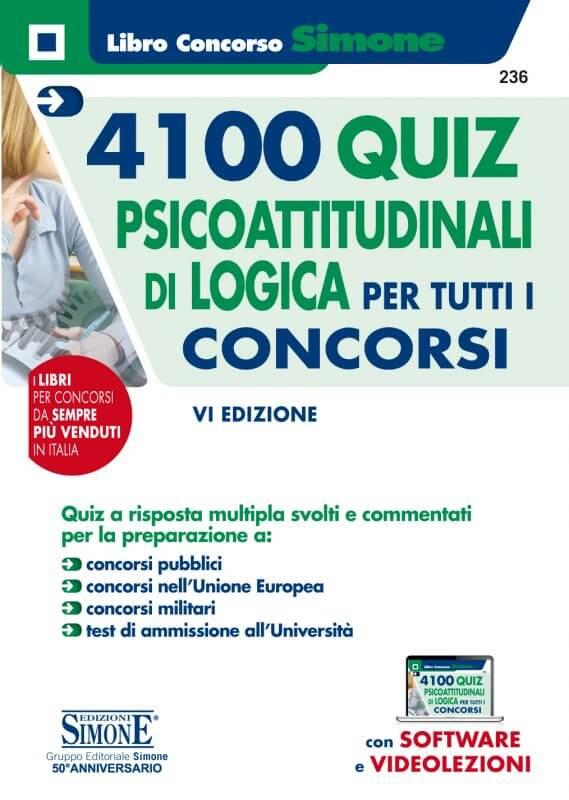 4100 Quiz Psicoattitudinali di Logica per tutti i concorsi