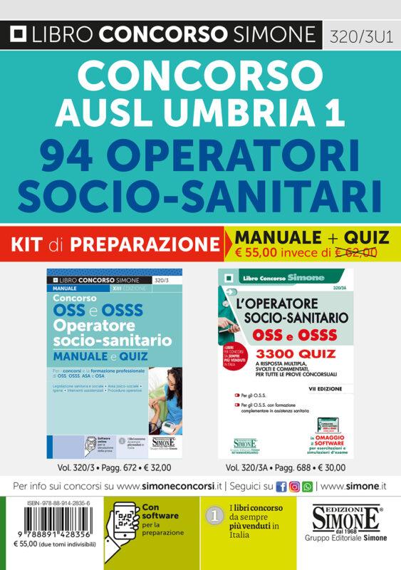 Concorso AUSL Umbria 1 – 94 Operatori Socio-Sanitari – KIT di preparazione (320/3 + 320/3A)