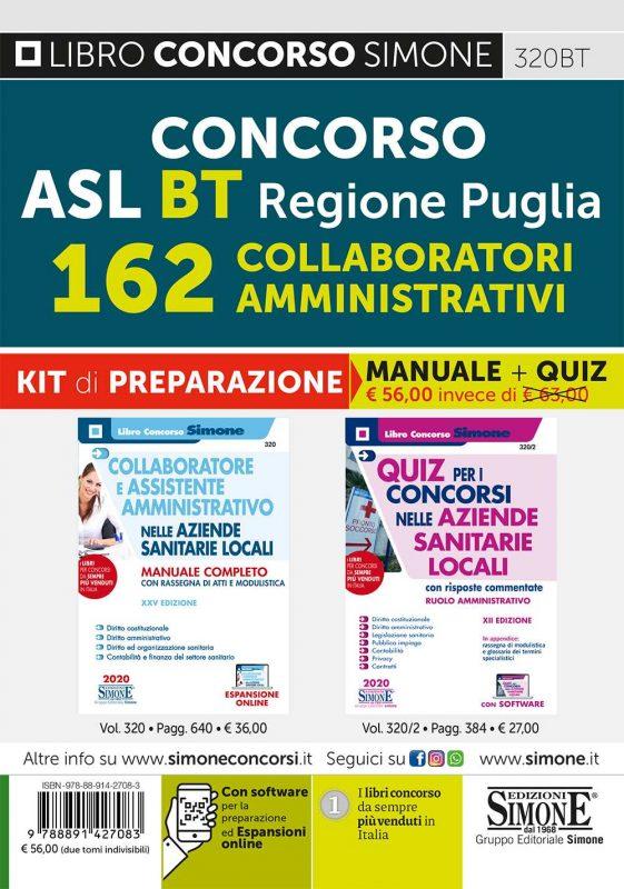 Regione Puglia – ASL BT – 162 Collaboratori Amministrativi – Kit di preparazione
