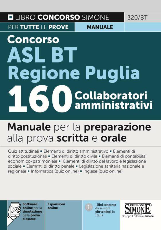 Concorso ASL BAT Regione Puglia – 160 Collaboratori Amministrativi