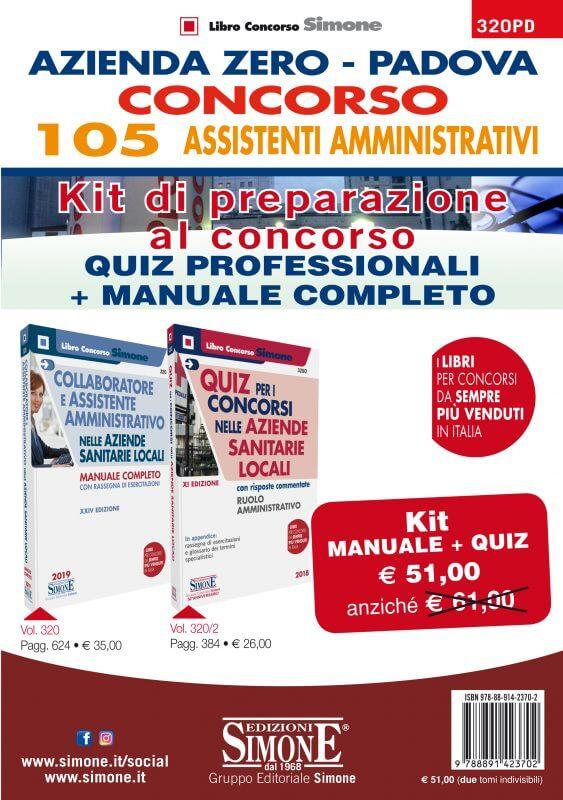 Azienda Zero – Padova – Concorso 105 Assistenti Amministrativi – Kit di preparazione al concorso