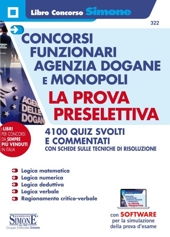 Concorsi Funzionari Agenzia Dogane e Monopoli – La prova preselettiva
