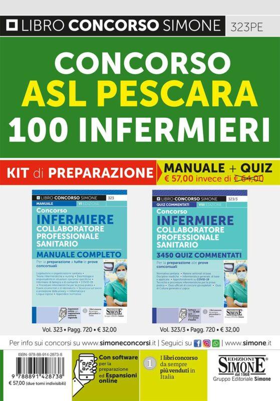 Concorso ASL Pescara – 100 CPS Infermieri – KIT di preparazione (323 + 323/3)