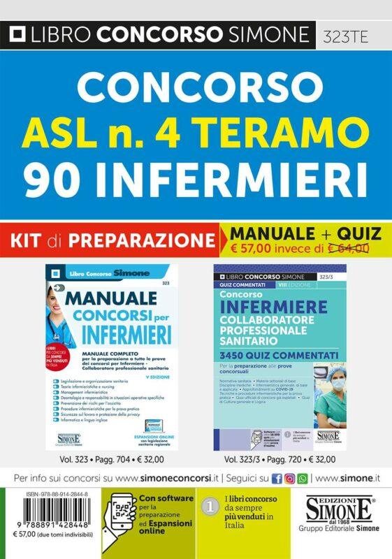 Concorso ASL n. 4 Teramo – 90 Infermieri – Kit di preparazione (323 + 323/3)