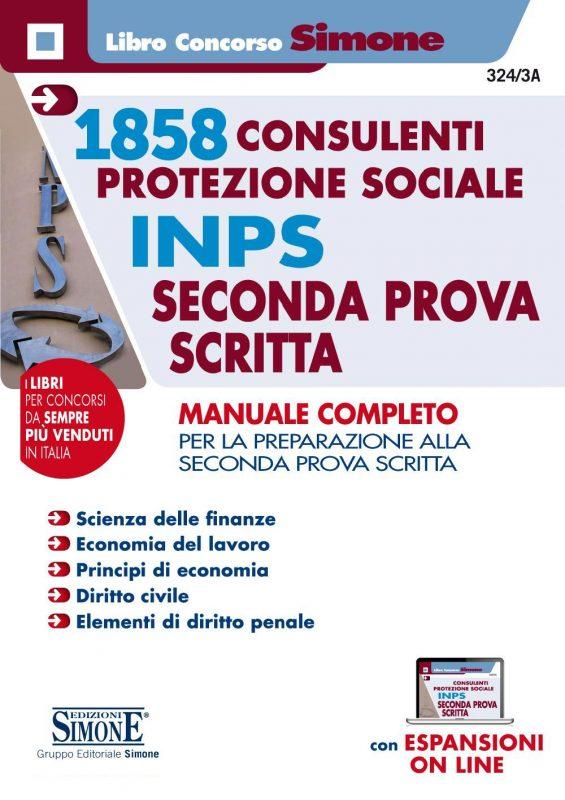 1858 Consulenti per la protezione sociale INPS – Seconda prova scritta – Manuale completo
