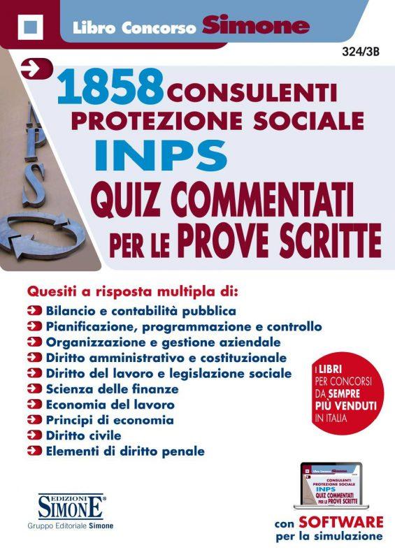1858 Consulenti per la Protezione Sociale INPS – Quiz commentati per le prove scritte