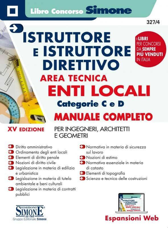 Istruttore e Istruttore Direttivo Area Tecnica Enti Locali Categorie C e D – Manuale Completo