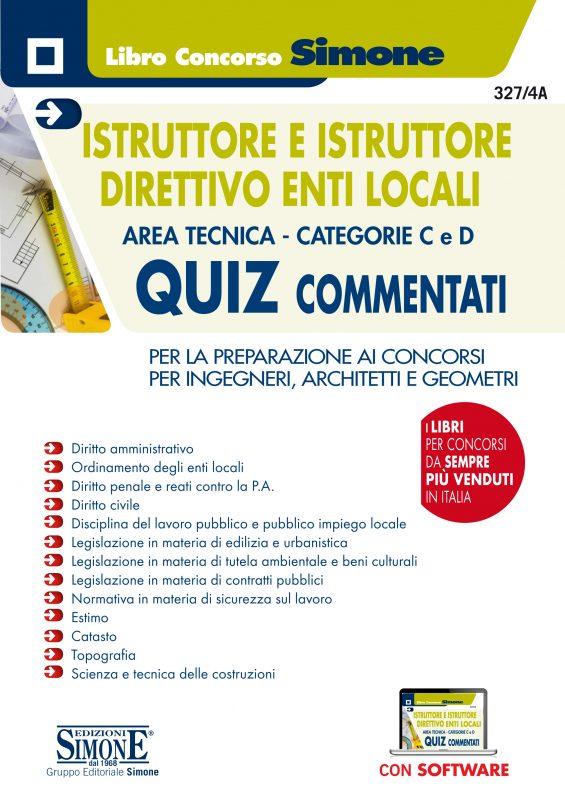 Istruttore e Istruttore Direttivo Enti Locali Area Tecnica – Categorie C e D – Quiz commentati