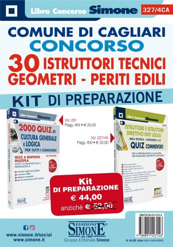 Comune di Cagliari Concorso 30 Istruttori Tecnici – Geometri – Periti Edili – KIT di preparazione