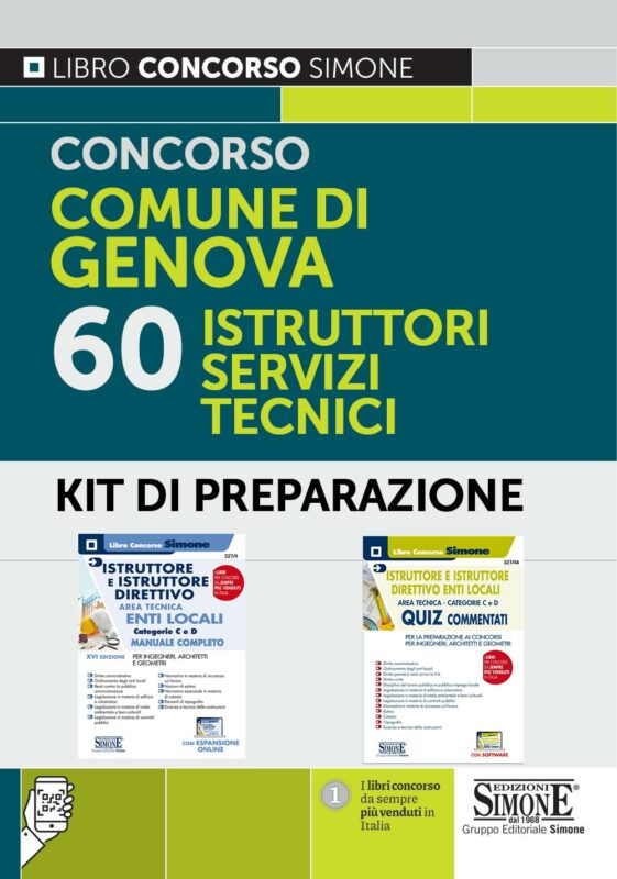 Concorso comune di Genova 60 Istruttori Servizi Tecnici – KIT di preparazione