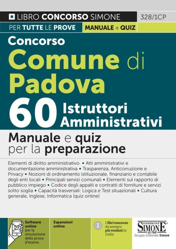 Concorso Comune di Padova 60 Istruttori Amministrativi – Manuale e quiz per la preparazione