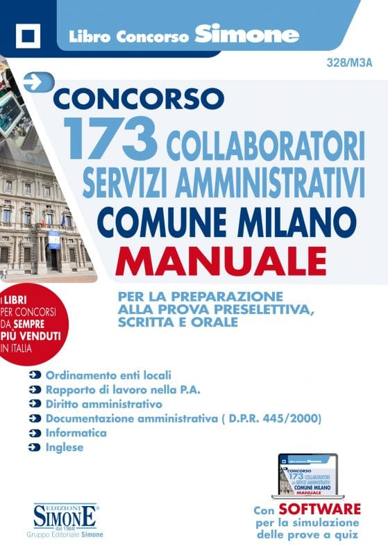 Concorso 173 Collaboratori Servizi Amministrativi Comune Milano – Manuale