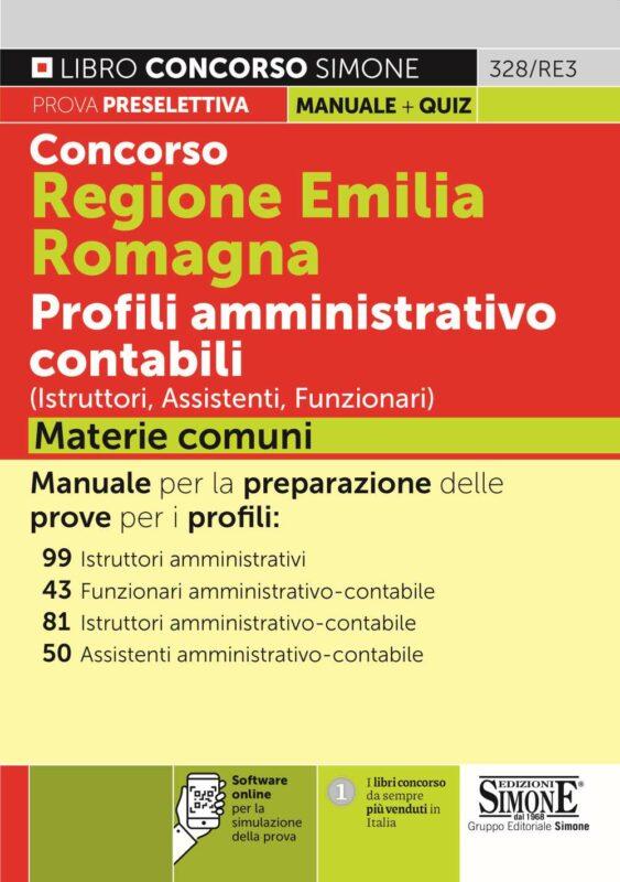 Concorso Regione Emilia Romagna Profili amministrativo contabili (Istruttori, Assistenti, Funzionari) Materie comuni