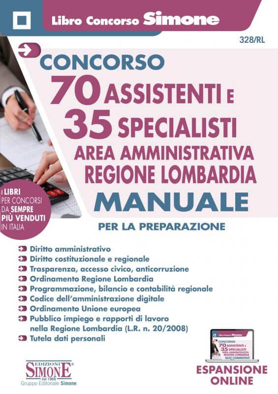 70 Assistenti e 35 Specialisti – Area Amministrativa – Regione Lombardia – Manuale per la preparazione