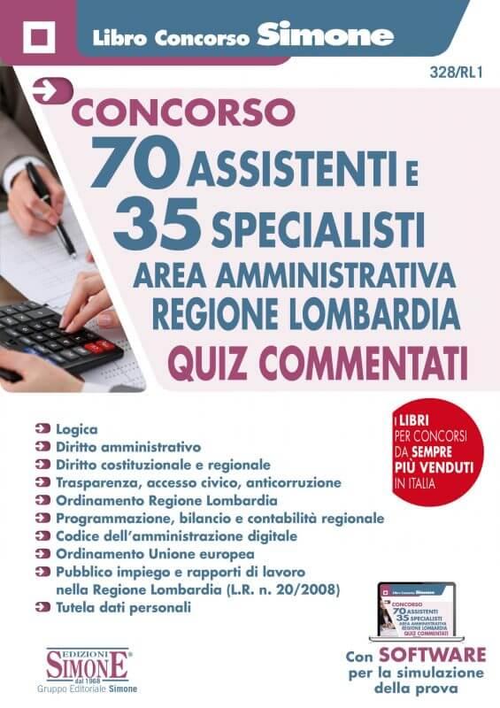 70 Assistenti e 35 Specialisti – Area Amministrativa – Regione Lombardia – Quiz Commentati