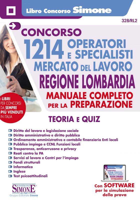 Concorso 1214 Operatori e Specialisti del mercato e del lavoro – Regione Lombardia – Manuale per la preparazione