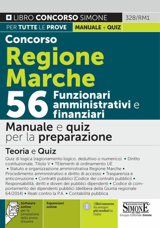 Concorso Regione Marche 56 Funzionari amministrativi e finanziari – Manuale e quiz per la preparazione