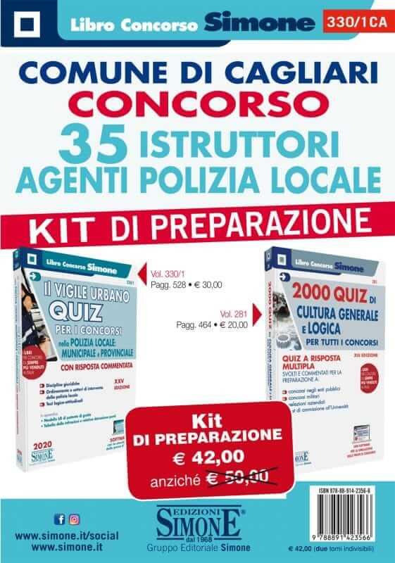 Comune di Cagliari Concorso 35 Istruttori Agenti Polizia Locale – KIT di preparazione