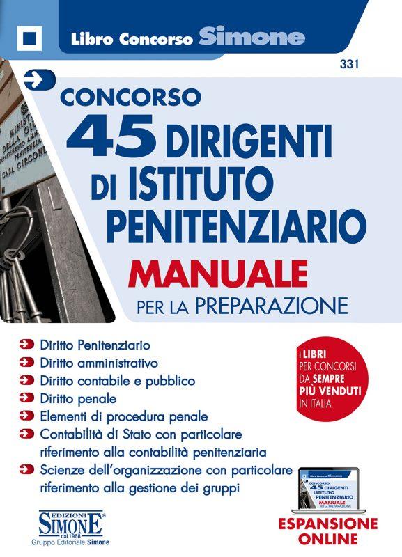 Concorso 45 Dirigenti di Istituto penitenziario – Manuale per la preparazione