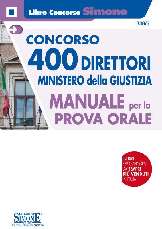 Concorso 400 Direttori Ministero Giustizia – Manuale per la Prova orale
