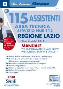 Concorso 115 Assistenti Area Tecnica servizio NUE 112 Regione Lazio – Manuale per la preparazione