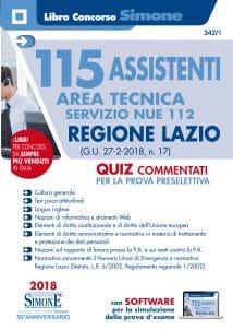 Concorso 115 Assistenti Area Tecnica servizio NUE 112 Regione Lazio – Quiz commentati prova preselettiva