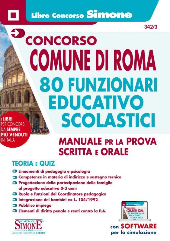 Concorso Comune di Roma 80 Funzionari educativo-scolastici – Manuale per la prova scritta e orale