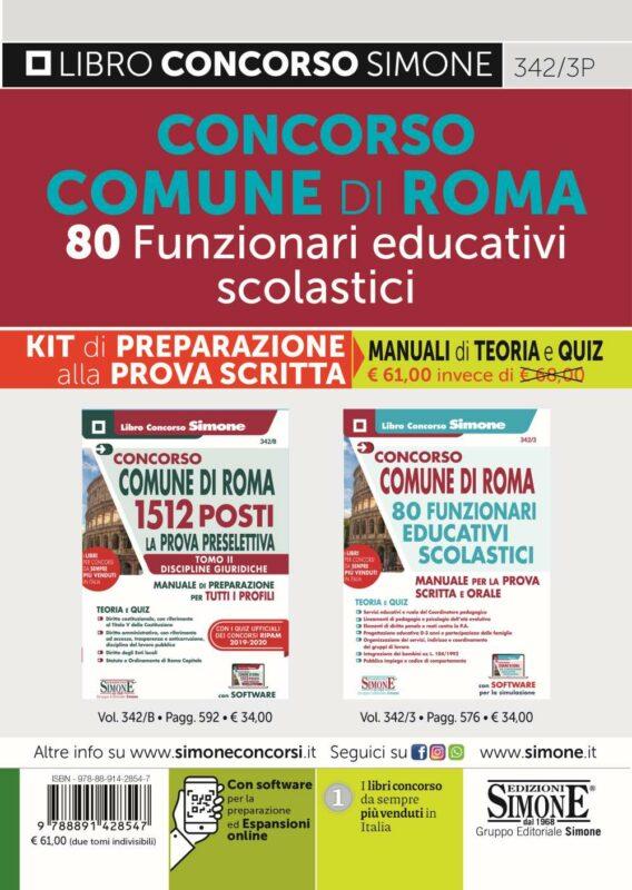 Comune di Roma 80 Funzionari Educativi Scolastici – KIT di preparazione alla prova scritta
