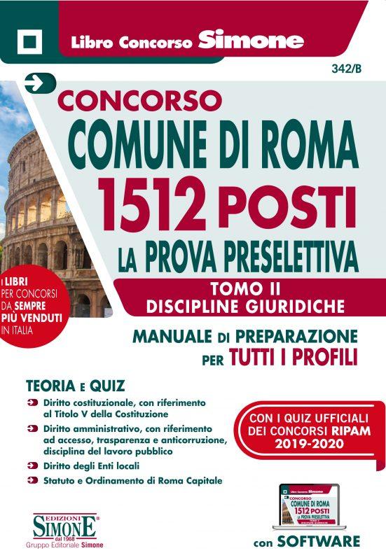 Concorso Comune di Roma 1512 posti – La Prova preselettiva – Tomo II Discipline Giuridiche