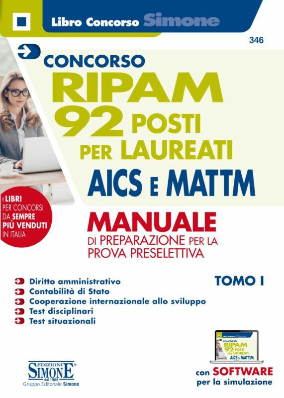 Concorso RIPAM – 92 posti per laureati AICS e MATTM – Manuale
