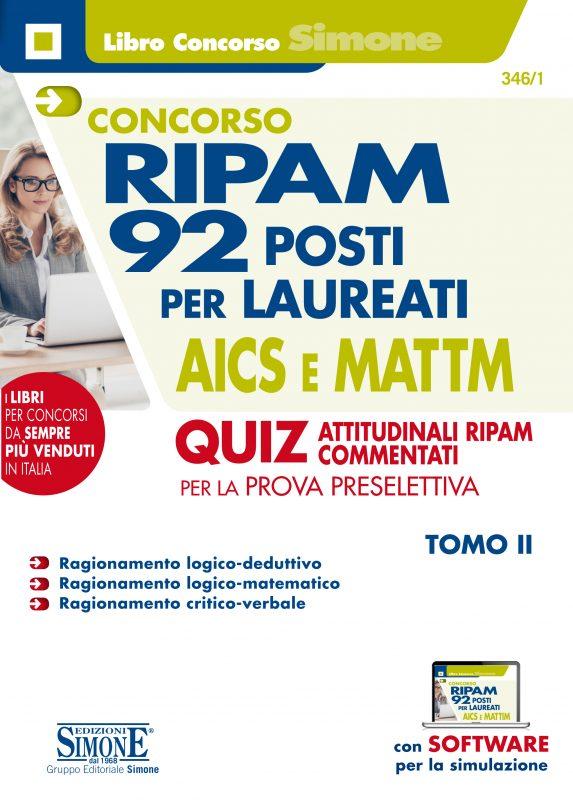 Concorso RIPAM – 92 posti per laureati AICS e MATTIM – Quiz attitudinali RIPAM commentati