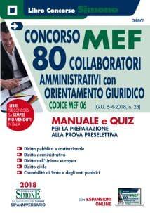 Concorso MEF – 80 Collaboratori Amministrativi con orientamento giuridico – Manuale e Quiz