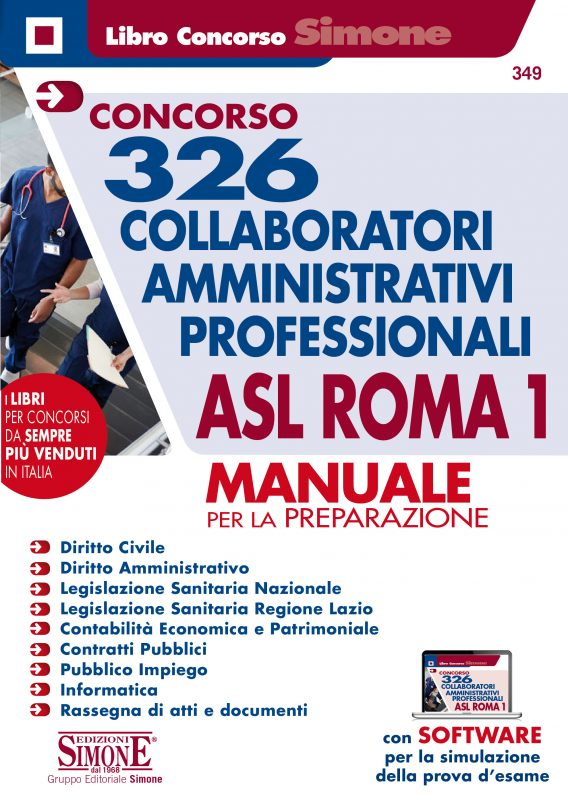 326 Collaboratori amministrativi professionali ASL Roma 1 – Manuale per la preparazione