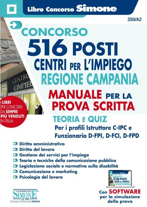 Concorso 516 posti Centri per l'impiego Regione Campania – Manuale per la prova scritta
