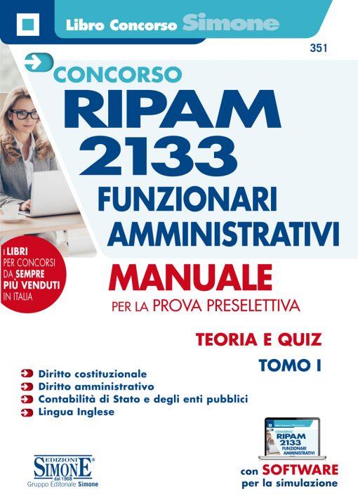 Concorso RIPAM 2133 Funzionari Amministrativi – Manuale per la prova preselettiva