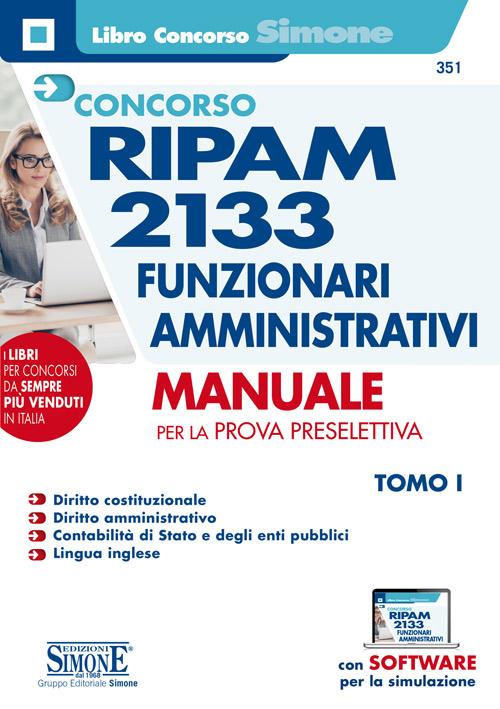 Concorso RIPAM 2133 Funzionari amministrativi – Manuale completo per la prova preselettiva