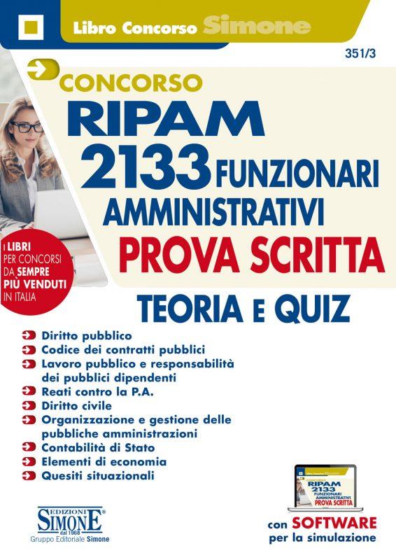 Concorso RIPAM 2133 Funzionari amministrativi – Prova scritta