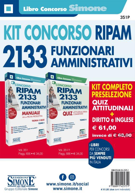Kit Manuali Concorso RIPAM 2133 Funzionari Amministrativi