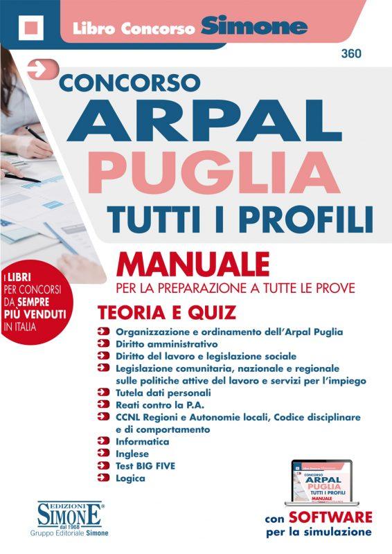 Concorso ARPAL Puglia Tutti i profili – Manuale per la preparazione a tutte le prove