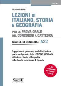 Lezioni di Italiano, Storia e Geografia per la prova orale del Concorso a Cattedra – Classe di Concorso A22