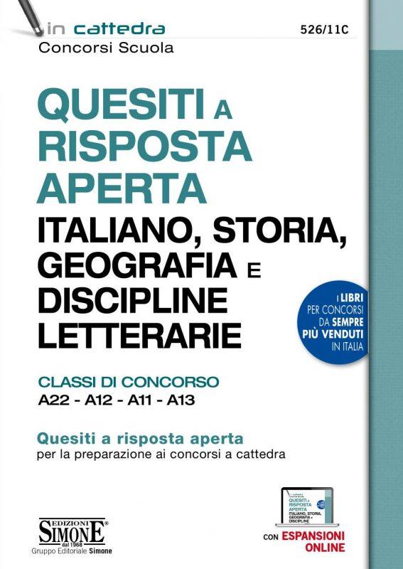 Quesiti a risposta aperta Italiano, Storia, Geografia e Discipline letterarie – Classi di concorso A22 – A12 – A11 – A13