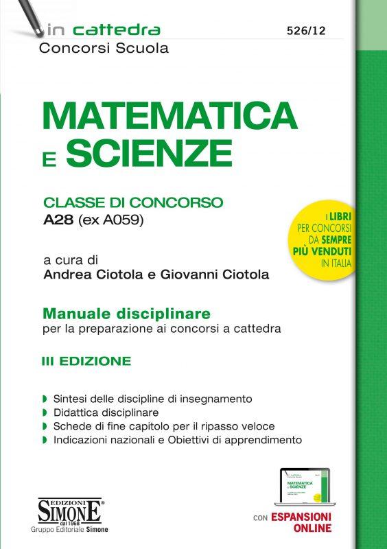 Matematica e Scienze – Classe di concorso A28 (ex A059)