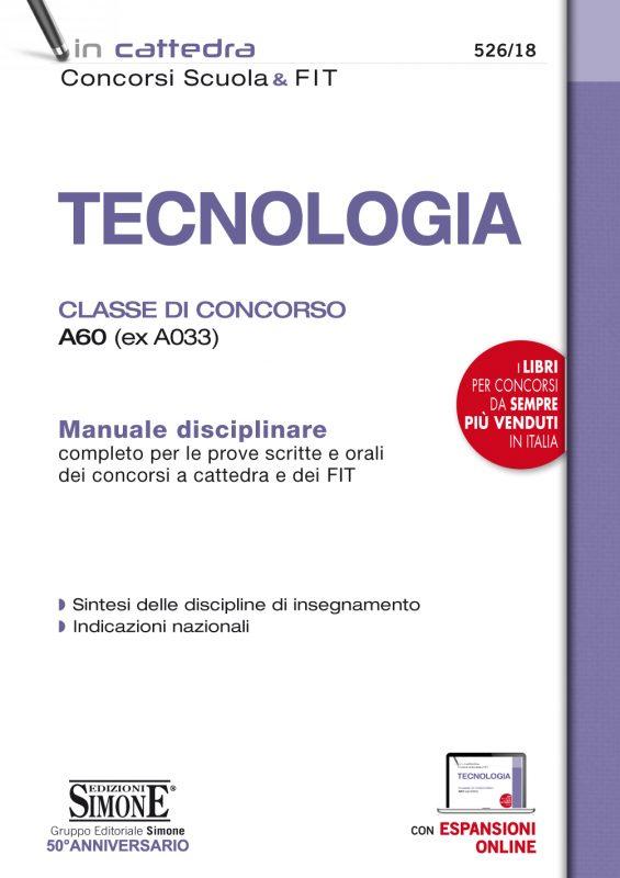 TECNOLOGIA – Classe di concorso A60 (ex A033)