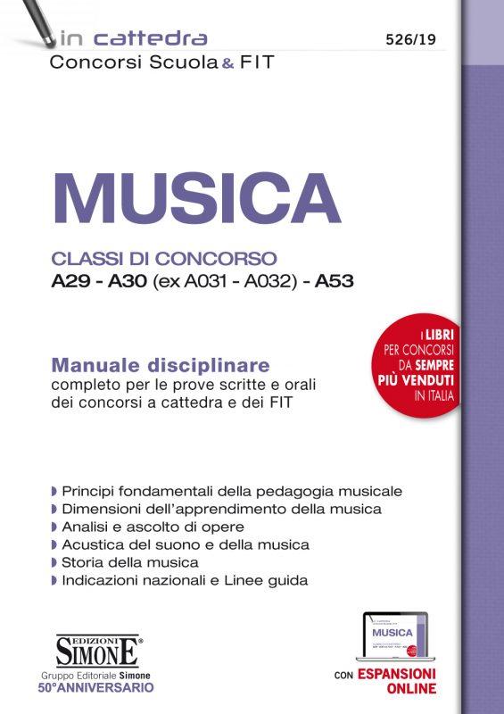 Musica – Classi di concorso A29 – A30 (ex A031 – A032) – A53