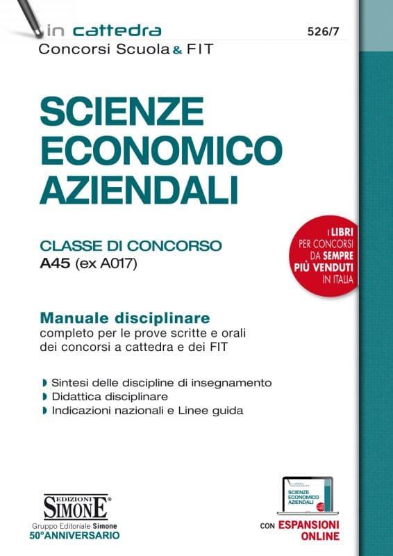 Scienze Economico Aziendali – Classe di Concorso A45 (ex A017)