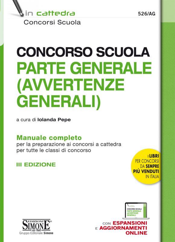 Concorso Scuola Parte Generale (AVVERTENZE GENERALI) – Manuale completo