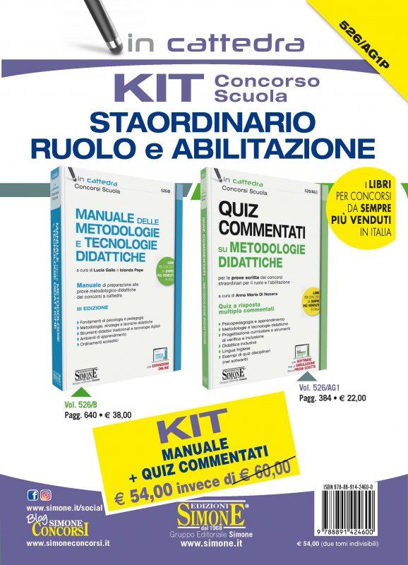 KIT (526/B + 526/AG1) Concorso Scuola – Straordinario Abilitazione