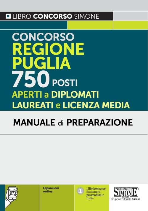 Concorso Regione Puglia 750 posti – Manuale