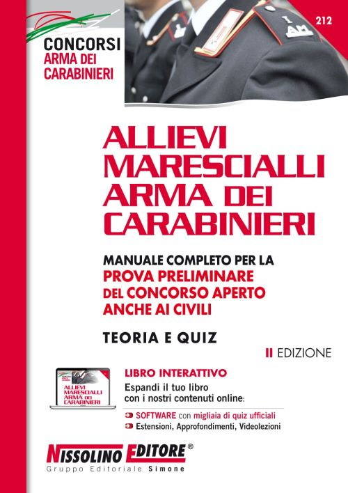 Manuale Concorso Allievi Marescialli Arma dei Carabinieri – Teoria e Quiz